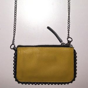 Zara blue/yellow purse